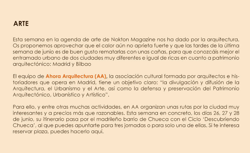 """AhoraArquitectura en """"Nokton magazine"""""""